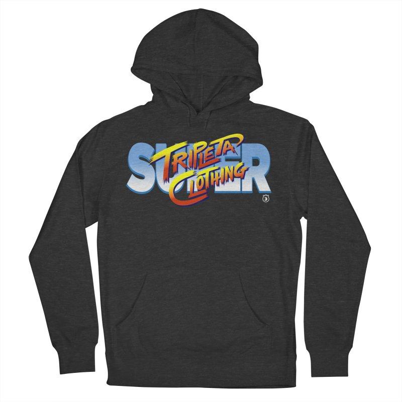 SUPER TRIPLETA FIGHTER Men's French Terry Pullover Hoody by Tripleta Gourmet Clothing