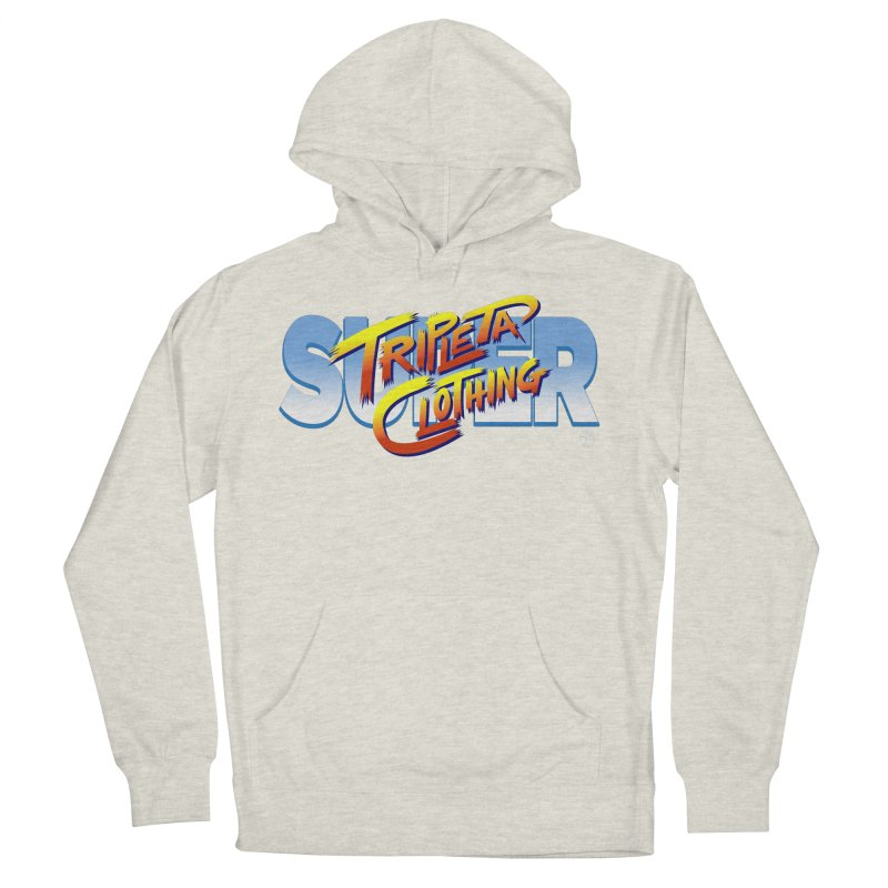SUPER TRIPLETA FIGHTER Men's French Terry Pullover Hoody by Tripleta Gourmet Clothing