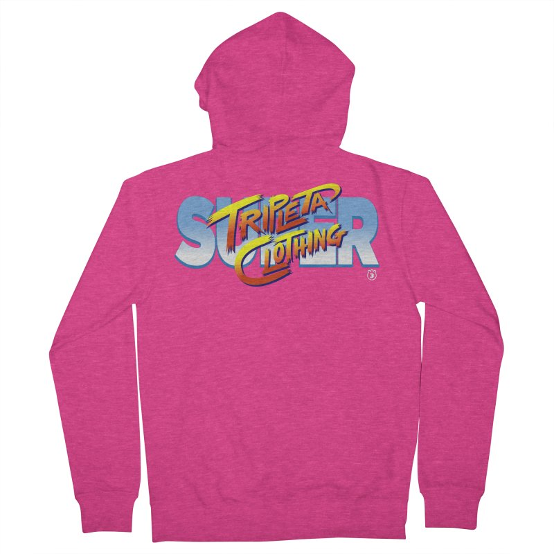 SUPER TRIPLETA FIGHTER Women's French Terry Zip-Up Hoody by Tripleta Gourmet Clothing