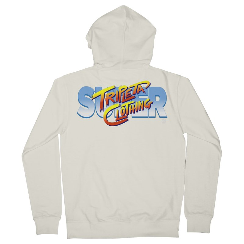 SUPER TRIPLETA FIGHTER Women's Zip-Up Hoody by Tripleta Gourmet Clothing