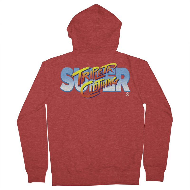 SUPER TRIPLETA FIGHTER Men's French Terry Zip-Up Hoody by Tripleta Gourmet Clothing