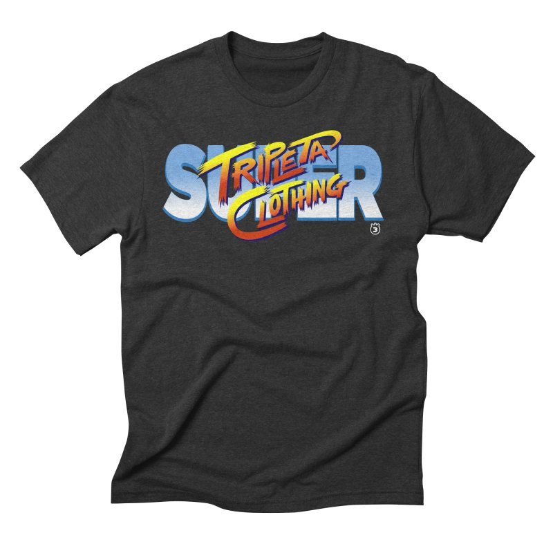SUPER TRIPLETA FIGHTER Men's Triblend T-Shirt by Tripleta Gourmet Clothing