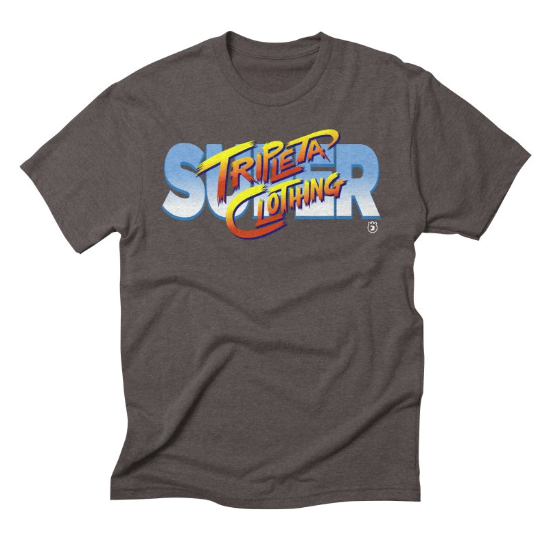 SUPER TRIPLETA FIGHTER Men's Triblend T-shirt by Tripleta Gourmet Clothing