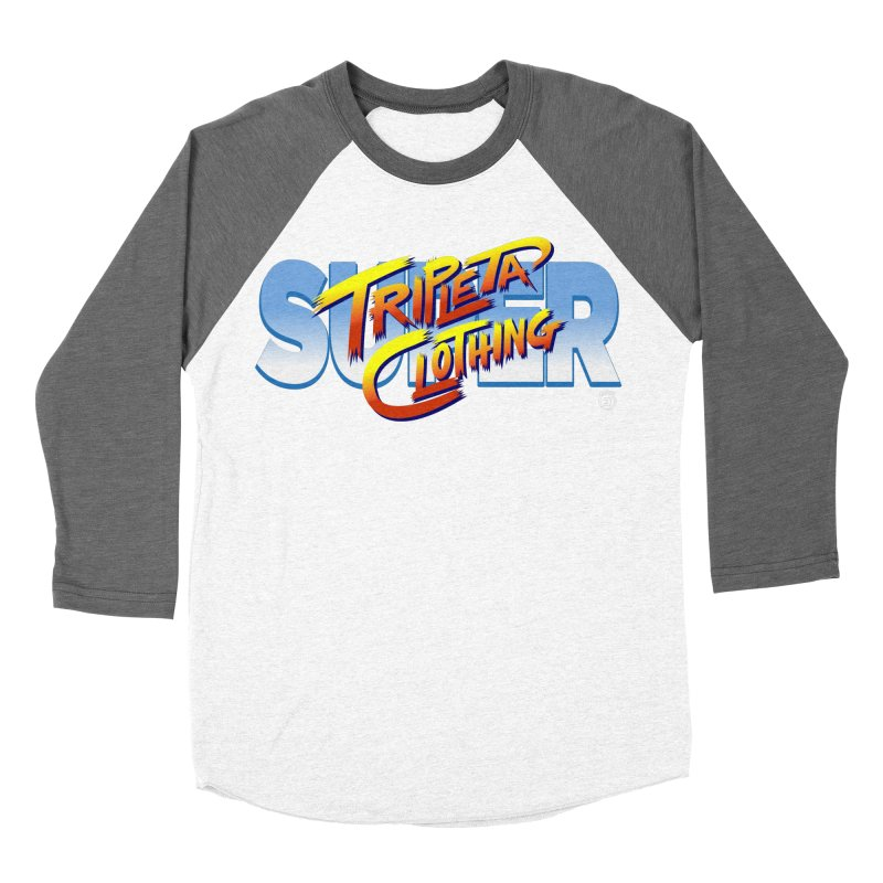 SUPER TRIPLETA FIGHTER Women's Baseball Triblend Longsleeve T-Shirt by Tripleta Gourmet Clothing