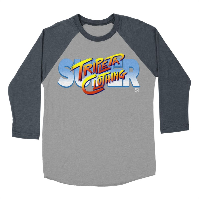 SUPER TRIPLETA FIGHTER Women's Baseball Triblend T-Shirt by Tripleta Gourmet Clothing