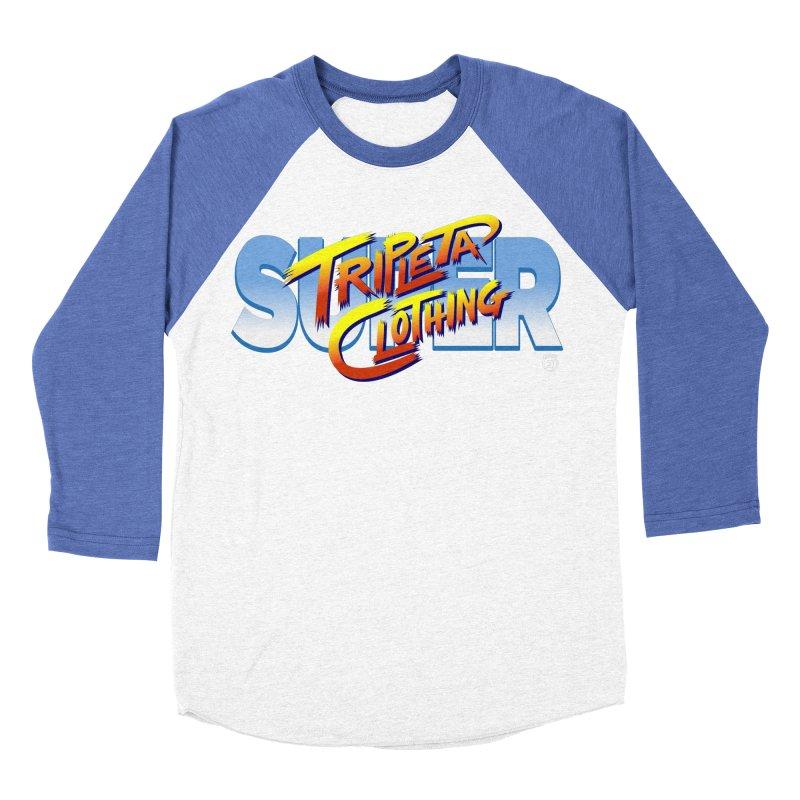 SUPER TRIPLETA FIGHTER Men's Baseball Triblend T-Shirt by Tripleta Gourmet Clothing