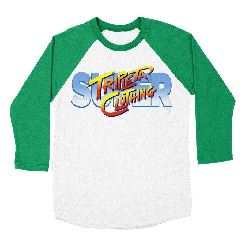 SUPER TRIPLETA FIGHTER Men's Baseball Triblend Longsleeve T-Shirt by Tripleta Gourmet Clothing