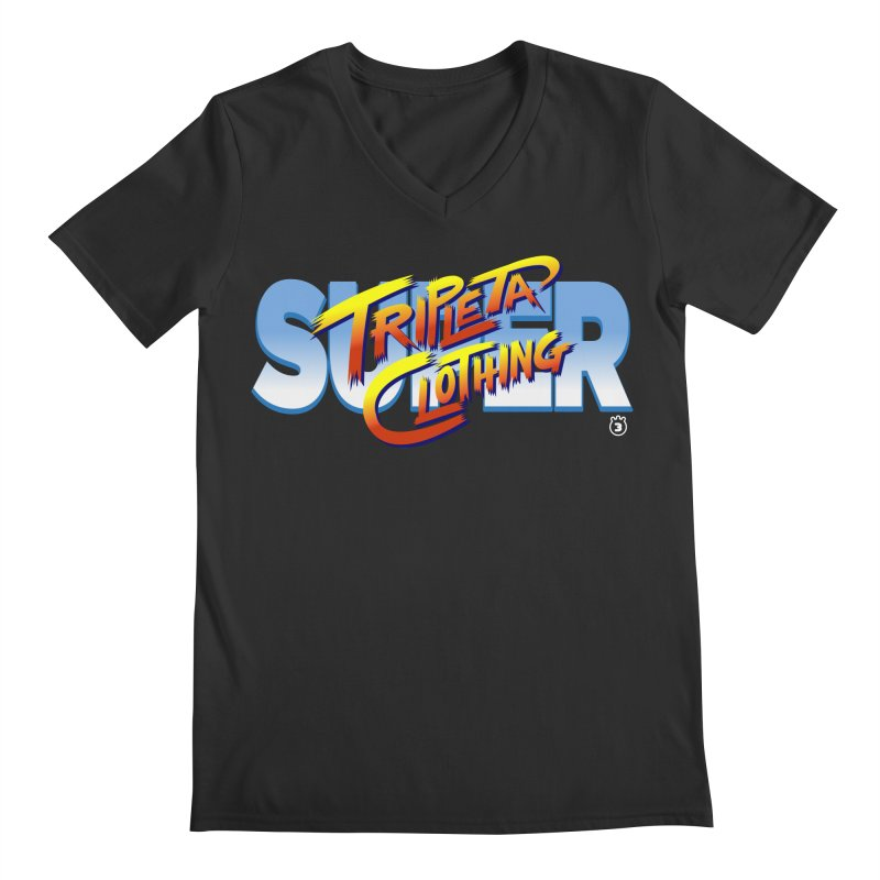 SUPER TRIPLETA FIGHTER Men's V-Neck by Tripleta Gourmet Clothing