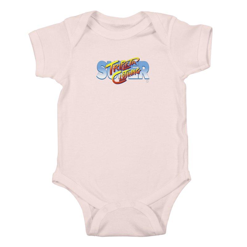 SUPER TRIPLETA FIGHTER Kids Baby Bodysuit by Tripleta Gourmet Clothing