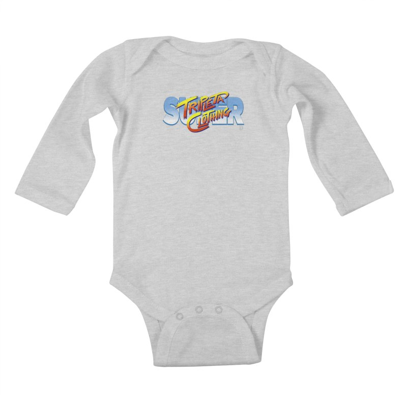 SUPER TRIPLETA FIGHTER Kids Baby Longsleeve Bodysuit by Tripleta Gourmet Clothing