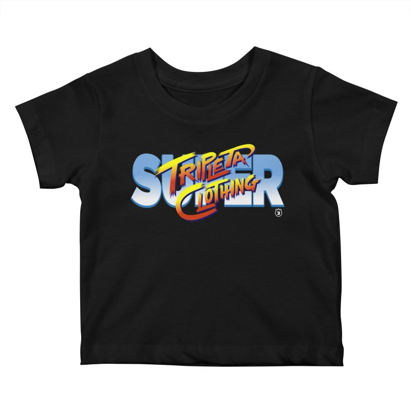 SUPER TRIPLETA FIGHTER Kids Baby T-Shirt by Tripleta Gourmet Clothing