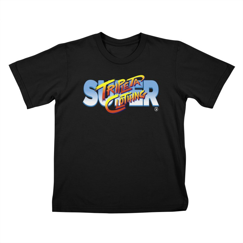 SUPER TRIPLETA FIGHTER Kids T-Shirt by Tripleta Gourmet Clothing
