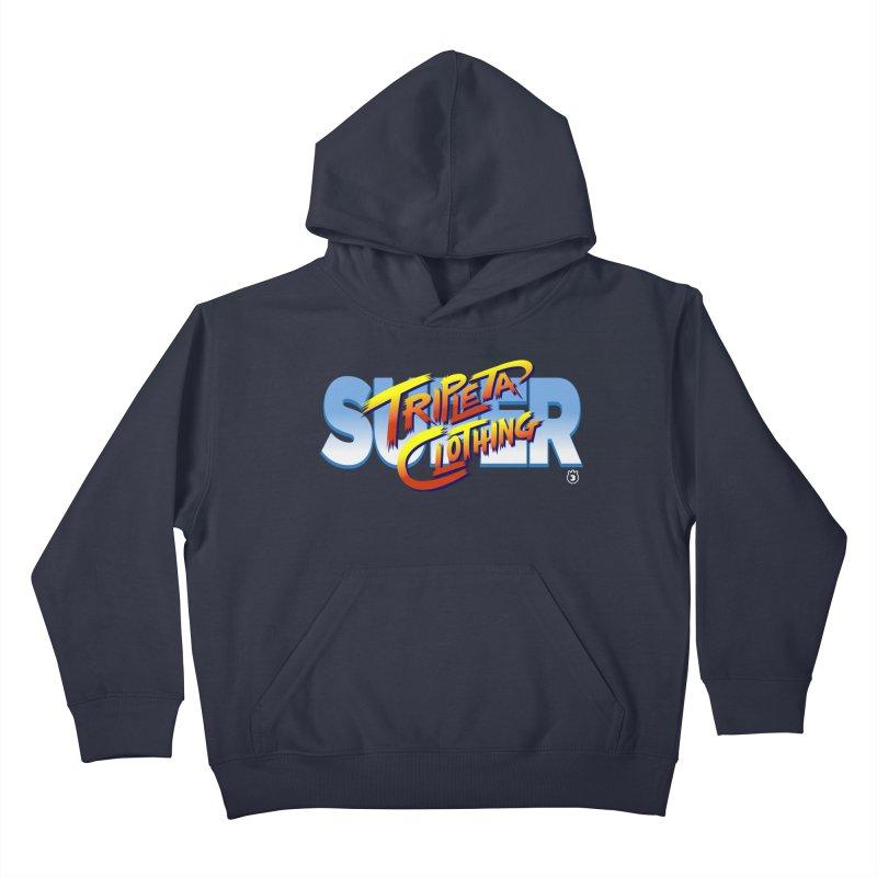 SUPER TRIPLETA FIGHTER Kids Pullover Hoody by Tripleta Gourmet Clothing