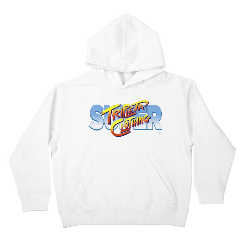 SUPER TRIPLETA FIGHTER Kids Pullover Hoody by Tripleta Gourmet Clothing