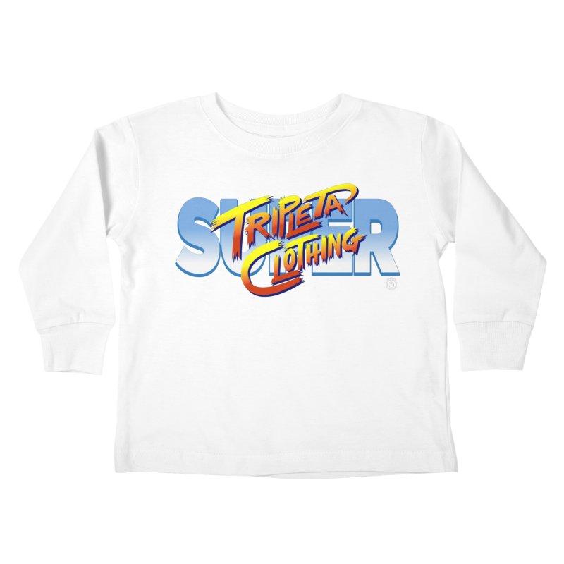 SUPER TRIPLETA FIGHTER Kids Toddler Longsleeve T-Shirt by Tripleta Gourmet Clothing