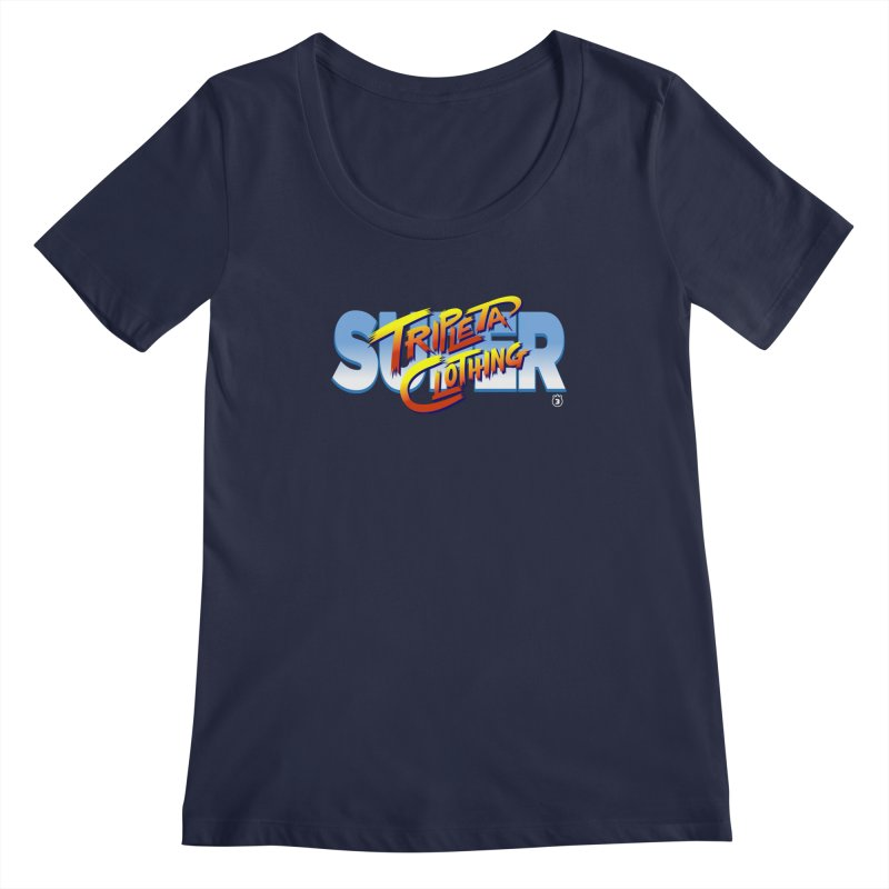 SUPER TRIPLETA FIGHTER Women's Scoopneck by Tripleta Gourmet Clothing