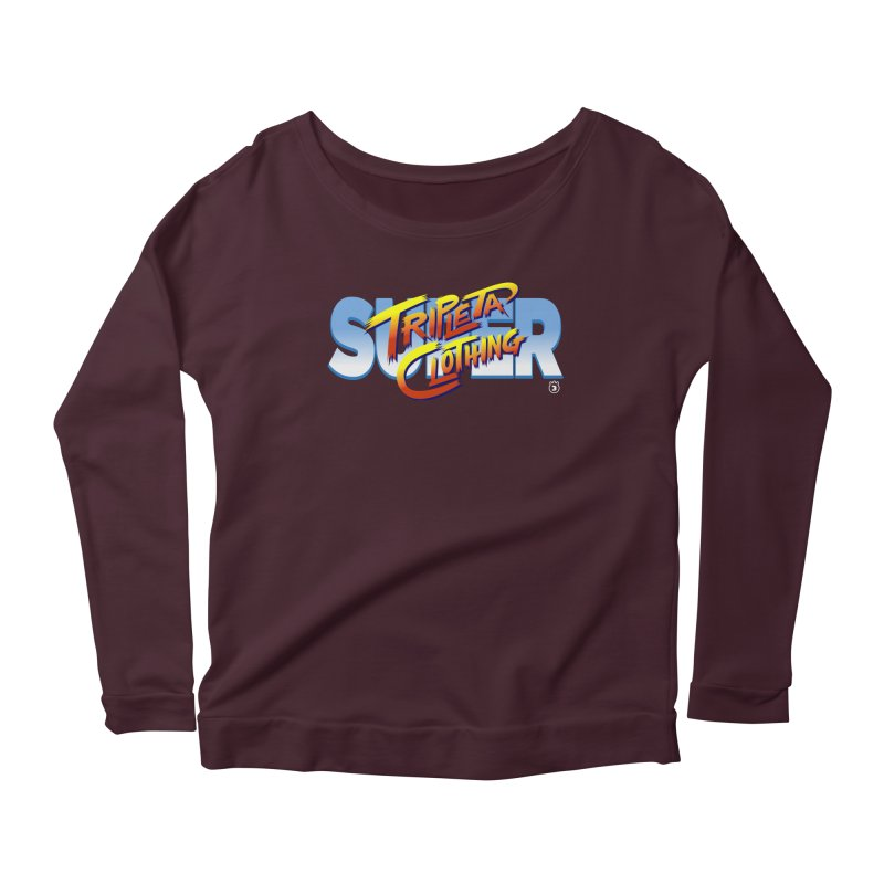 SUPER TRIPLETA FIGHTER Women's Longsleeve Scoopneck  by Tripleta Gourmet Clothing