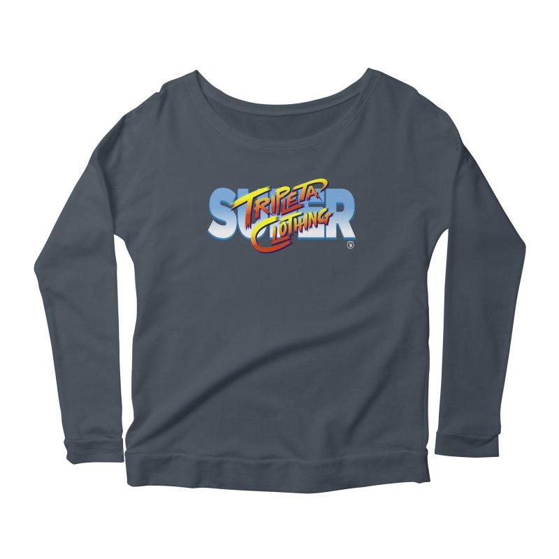 SUPER TRIPLETA FIGHTER Women's Longsleeve Scoopneck  by Tripleta Gourmet Clothing