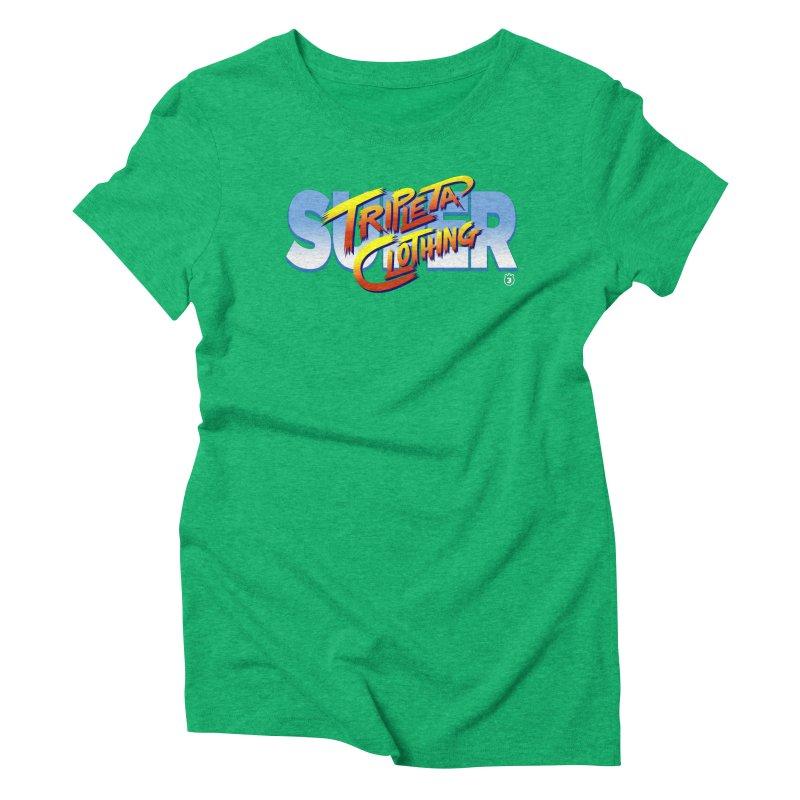 SUPER TRIPLETA FIGHTER Women's Triblend T-shirt by Tripleta Gourmet Clothing