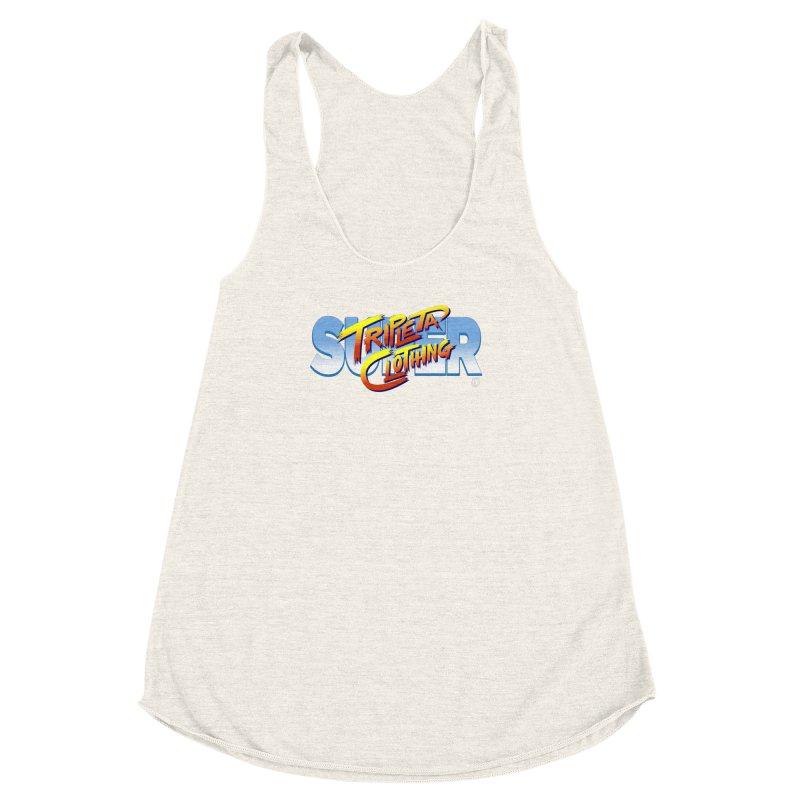 SUPER TRIPLETA FIGHTER Women's Racerback Triblend Tank by Tripleta Gourmet Clothing