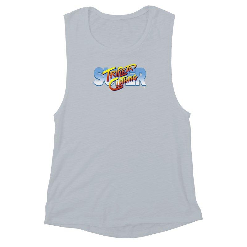 SUPER TRIPLETA FIGHTER Women's Muscle Tank by Tripleta Gourmet Clothing