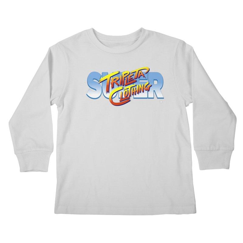 SUPER TRIPLETA FIGHTER Kids Longsleeve T-Shirt by Tripleta Gourmet Clothing