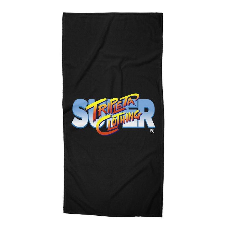 SUPER TRIPLETA FIGHTER Accessories Beach Towel by Tripleta Gourmet Clothing