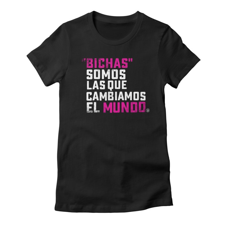 BICHAS in Women's Fitted T-Shirt Black by Tripleta Gourmet Clothing