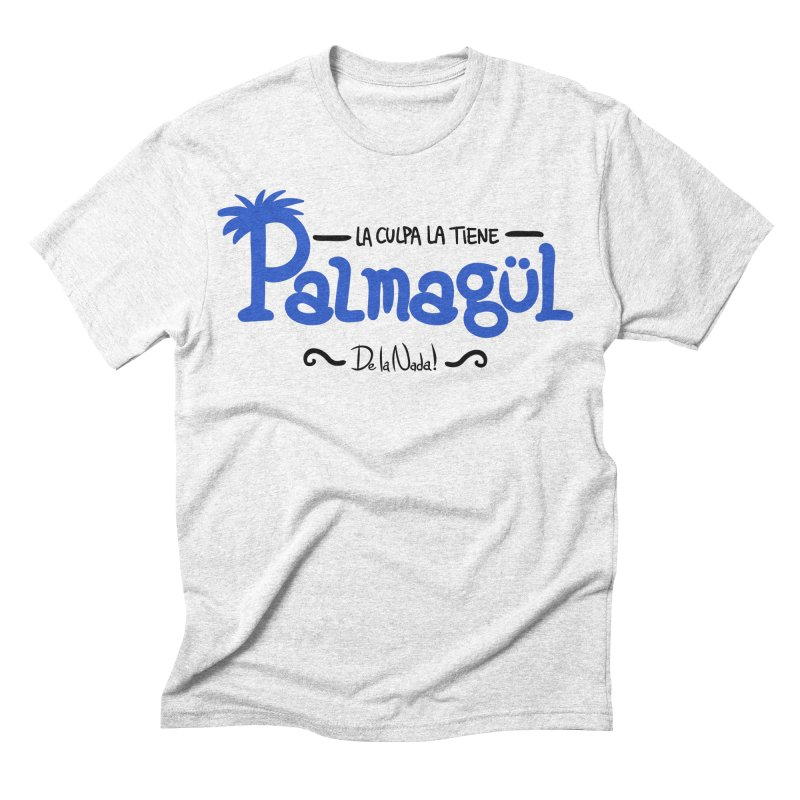 PALMAGUL in Men's Triblend T-shirt Heather White by Tripleta Gourmet Clothing