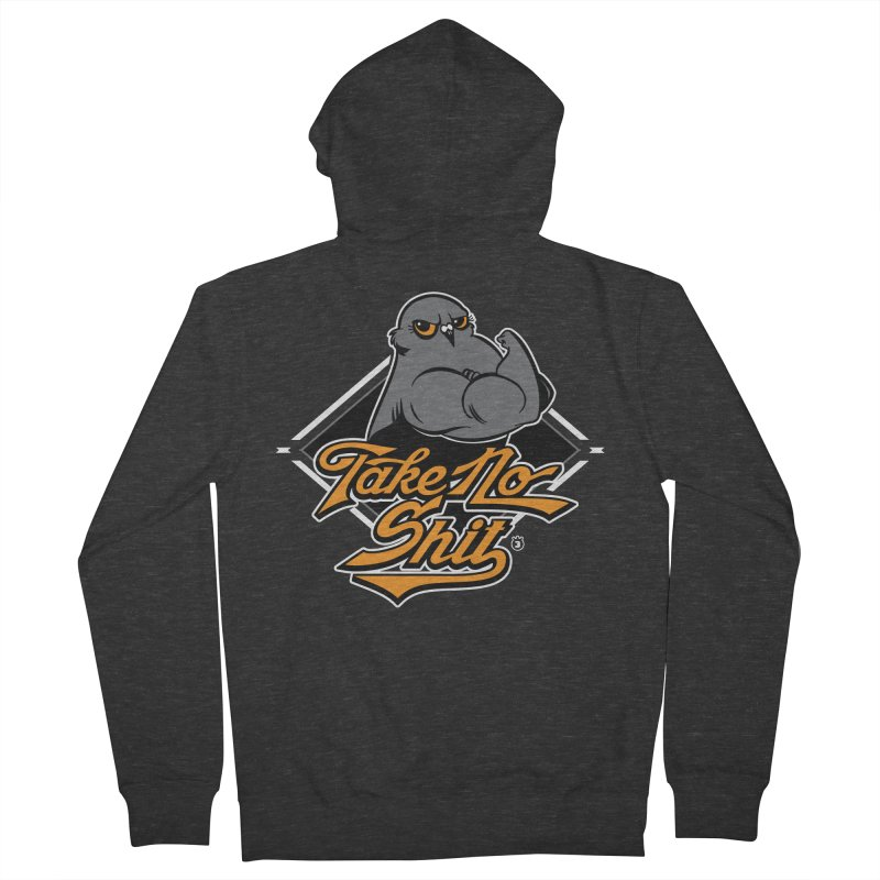 TAKE NO SHIT Men's Zip-Up Hoody by Tripleta Gourmet Clothing