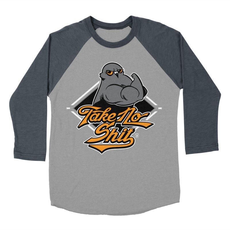 TAKE NO SHIT Men's Baseball Triblend T-Shirt by Tripleta Gourmet Clothing