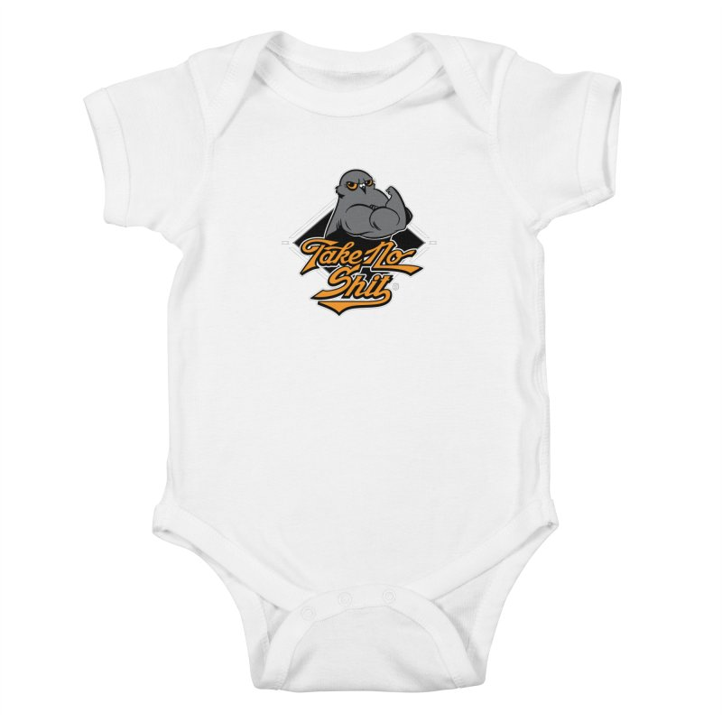 TAKE NO SHIT Kids Baby Bodysuit by Tripleta Gourmet Clothing