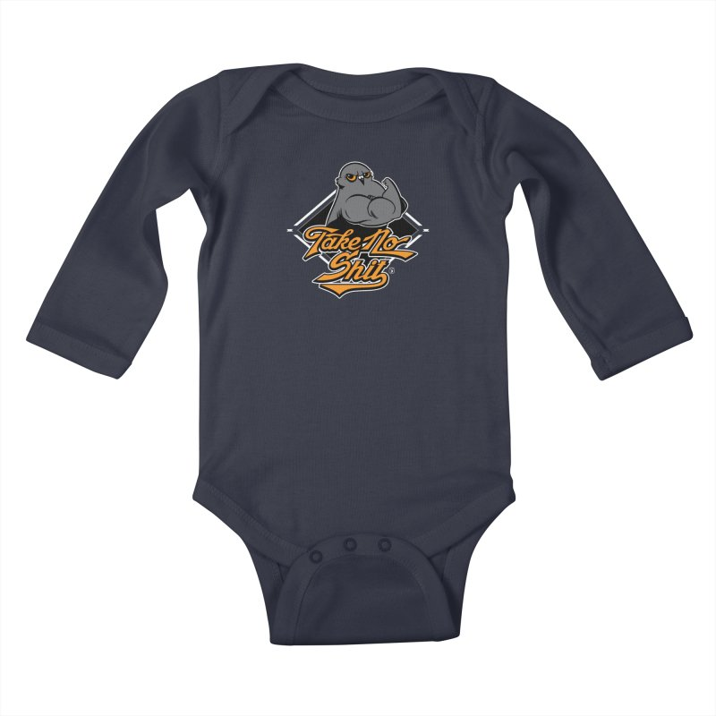 TAKE NO SHIT Kids Baby Longsleeve Bodysuit by Tripleta Studio Shop