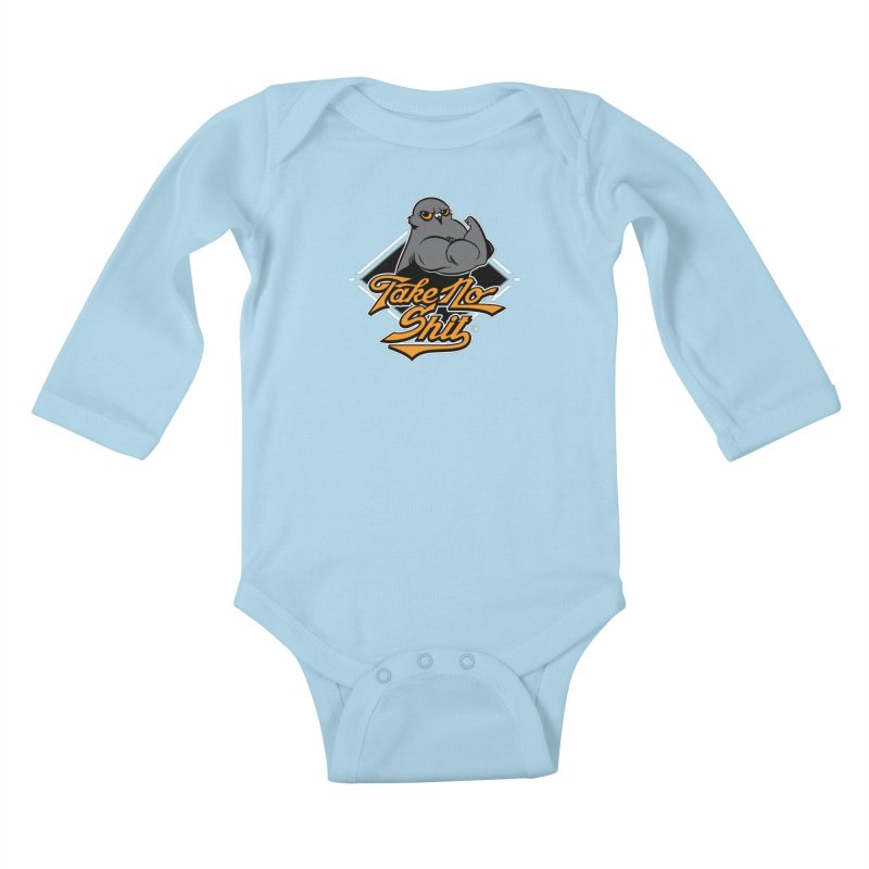 TAKE NO SHIT Kids Baby Longsleeve Bodysuit by Tripleta Gourmet Clothing