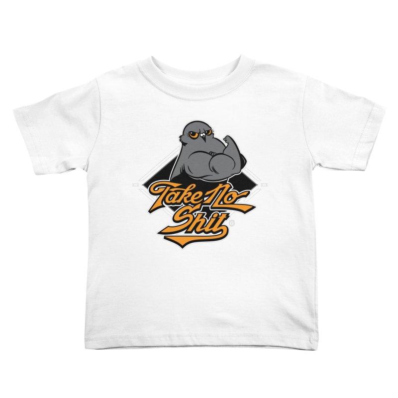 TAKE NO SHIT Kids Toddler T-Shirt by Tripleta Gourmet Clothing