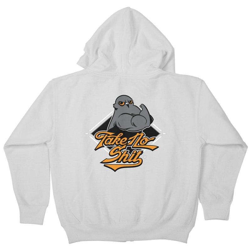 TAKE NO SHIT Kids Zip-Up Hoody by Tripleta Gourmet Clothing