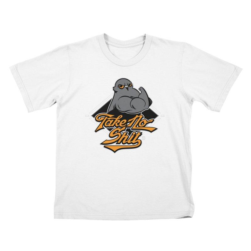 TAKE NO SHIT Kids T-Shirt by Tripleta Gourmet Clothing