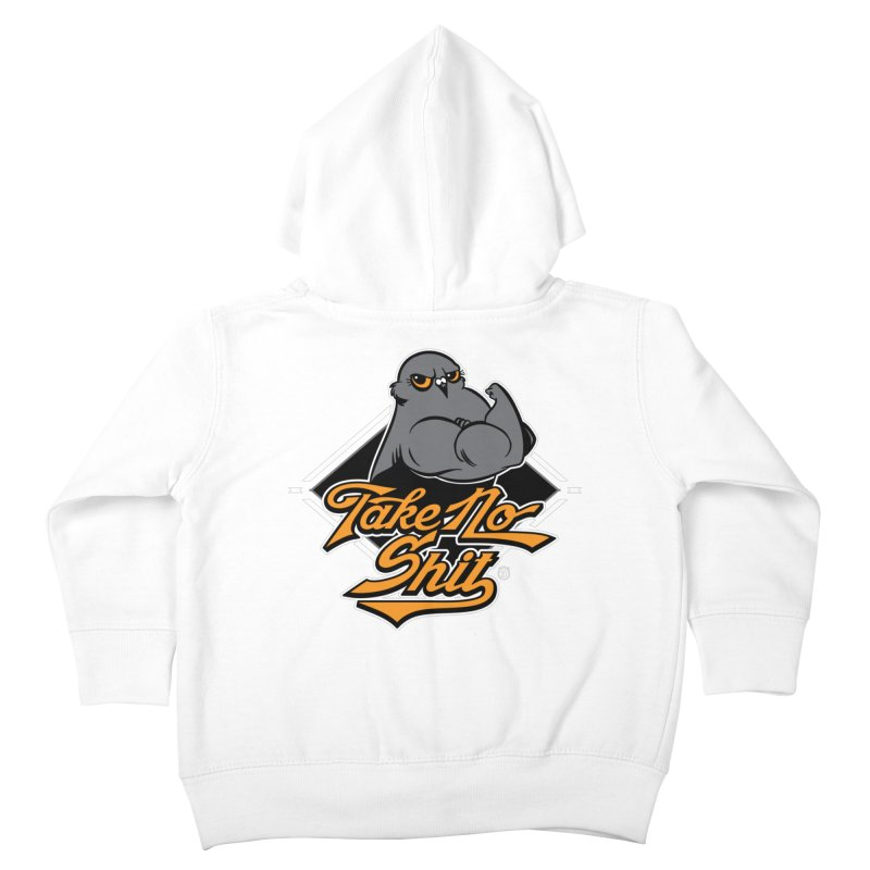 TAKE NO SHIT Kids Toddler Zip-Up Hoody by Tripleta Studio Shop