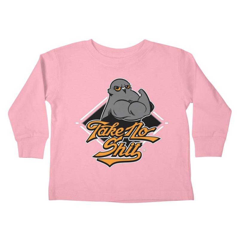 TAKE NO SHIT Kids Toddler Longsleeve T-Shirt by Tripleta Gourmet Clothing
