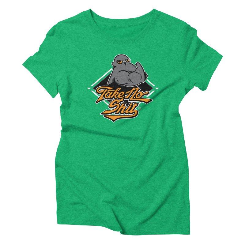 TAKE NO SHIT Women's Triblend T-Shirt by Tripleta Gourmet Clothing