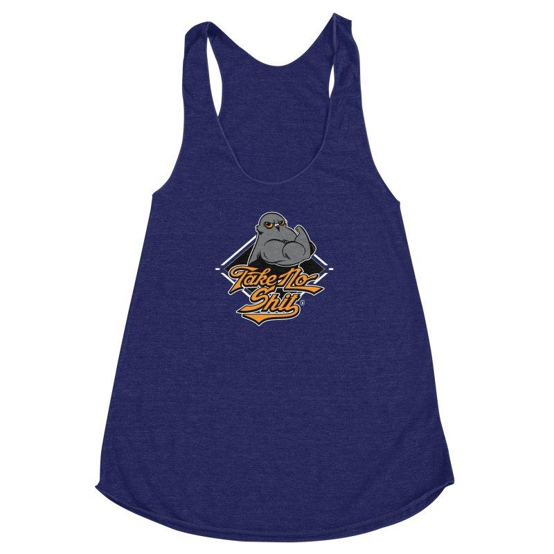 TAKE NO SHIT Women's Racerback Triblend Tank by Tripleta Gourmet Clothing
