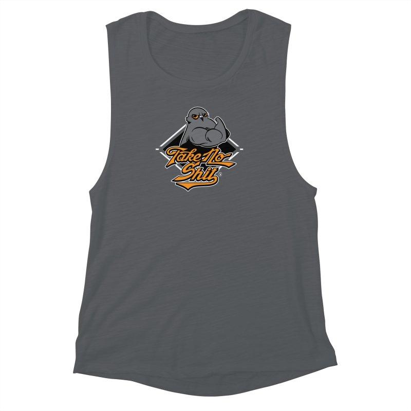 TAKE NO SHIT Women's Muscle Tank by Tripleta Gourmet Clothing