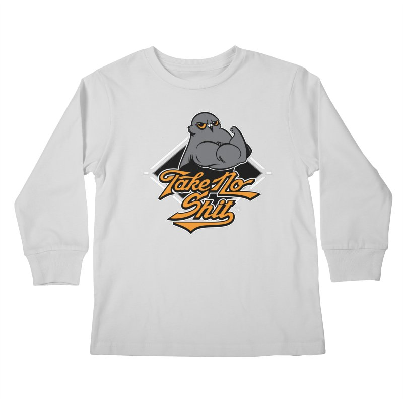 TAKE NO SHIT Kids Longsleeve T-Shirt by Tripleta Gourmet Clothing