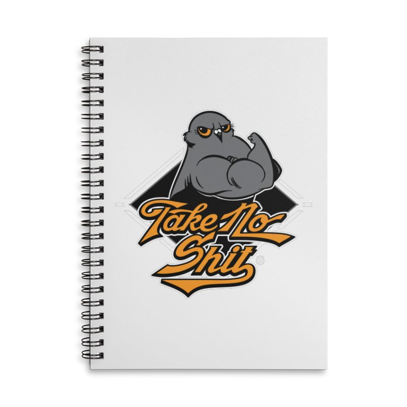 TAKE NO SHIT Accessories Lined Spiral Notebook by Tripleta Studio Shop