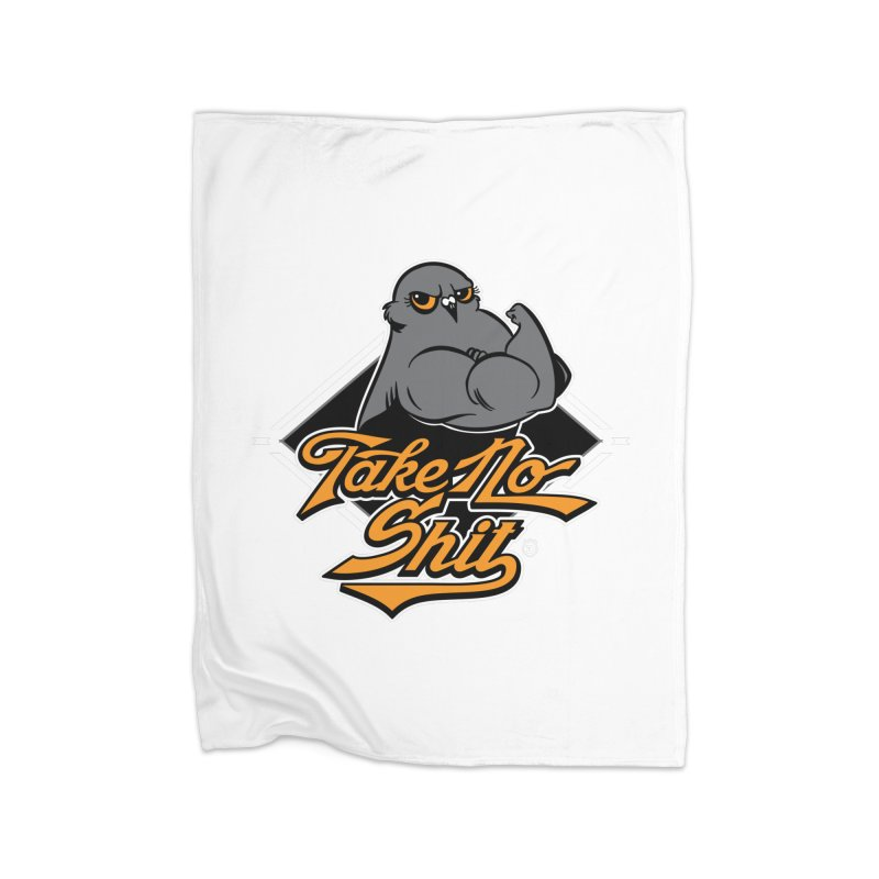 TAKE NO SHIT Home Blanket by Tripleta Gourmet Clothing