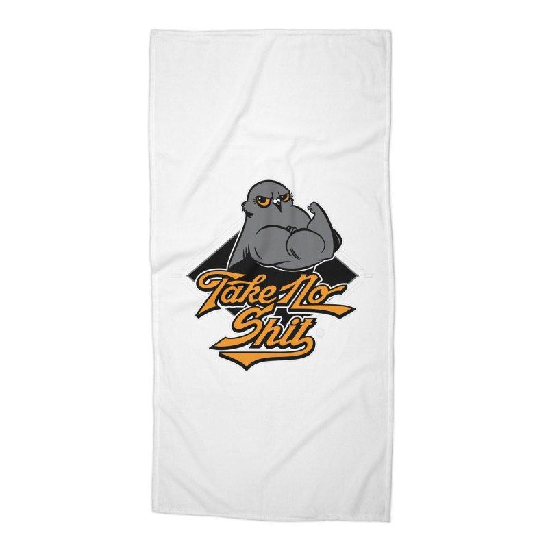 TAKE NO SHIT Accessories Beach Towel by Tripleta Gourmet Clothing