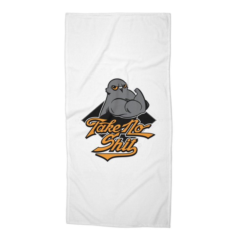 TAKE NO SHIT Accessories Beach Towel by Tripleta Studio Shop