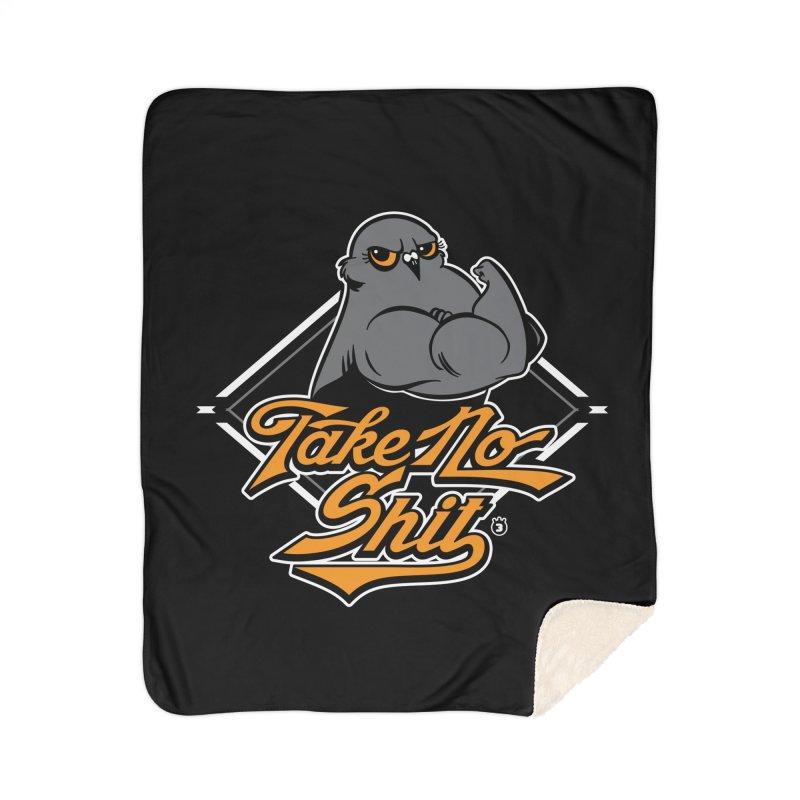 TAKE NO SHIT Home Blanket by Tripleta Studio Shop