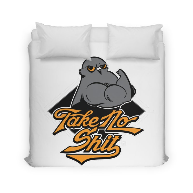 TAKE NO SHIT Home Duvet by Tripleta Gourmet Clothing