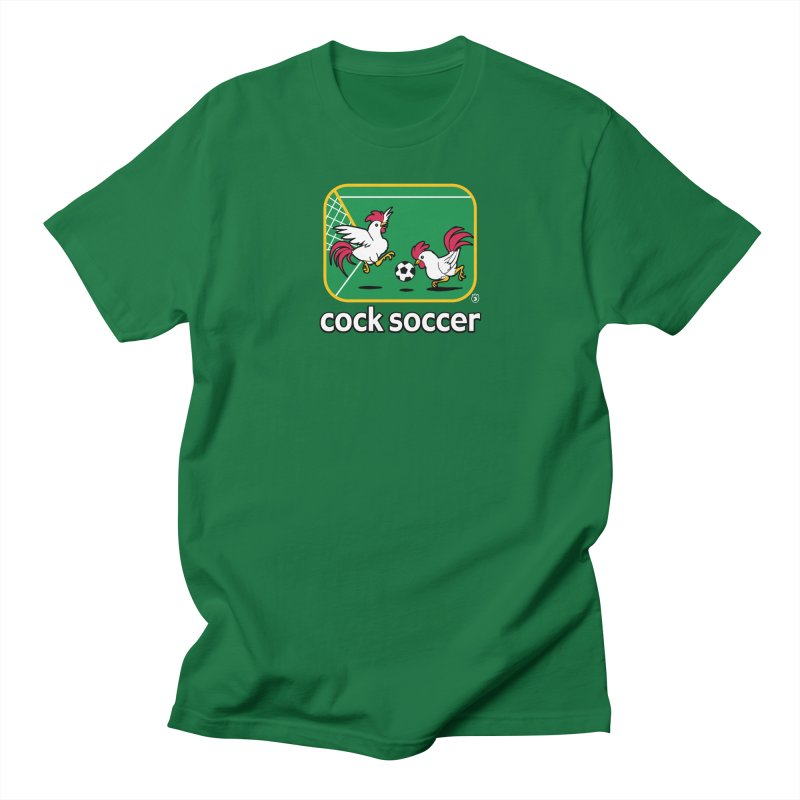 COCK SOCCER in Men's Regular T-Shirt Kelly Green by Tripleta Gourmet Clothing